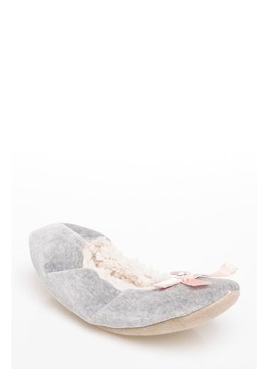 DeFacto Peluş Ev Ayakkabısı Gri